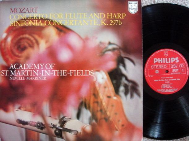 Philips / MARRINER, - Mozart Flute & Harp Concerto, NM!