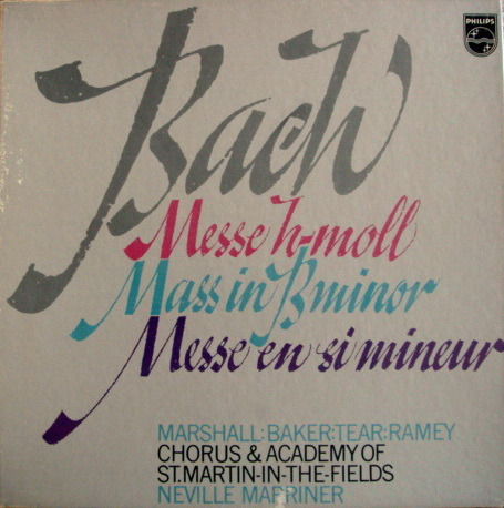 Philips / MARRINER, - Bach Mass in B Minor, NM, 3LP Box Set!