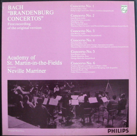 Philips / MARRINER, - Bach 6 Brandenburg Concertos, NM, 2LP Box Set!