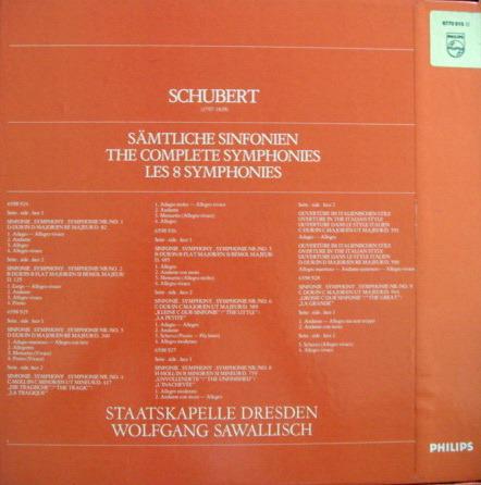 Philips / SAWALISCH, - Schubert The Complete 8 Symphonies, NM, 5 LP Box Set!