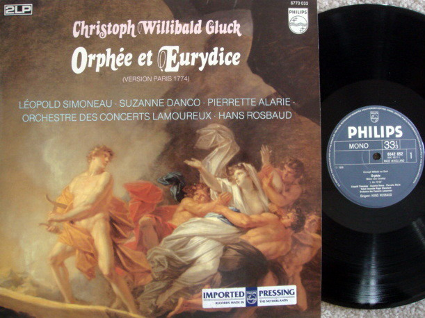 Philips / ROSBAUD, - Gluck Orfeo & Euridice, NM, 2 LP Set!