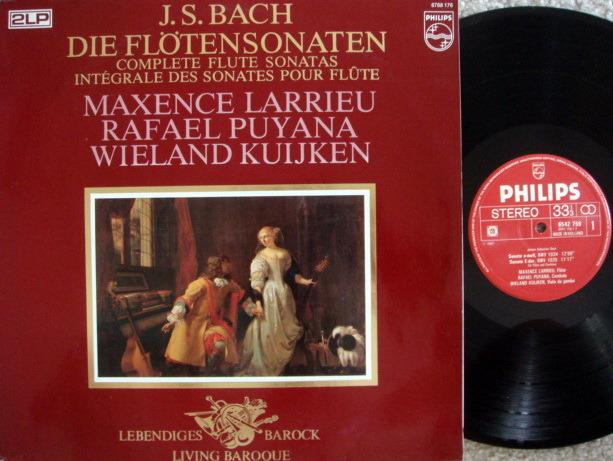 Philips / LARRIEU-PUYANA-KUIJKEN, - Bach Complete Flute Sonatas, NM, 2 LP Set!