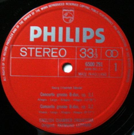 Philips / LEPPARD, - Handel Concerti Grossi Op.3, NM, 2LP Box Set!