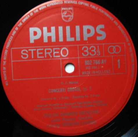 Philips / LEPPARD, - Handel 12 Concerti Grossi Op.6, NM, 3LP Box Set!