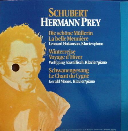 Philips / HERMANN PREY, - Schubert Die Schone Mullerin, Winterreise, Schwanengesang, NM, 4LP Box Set!
