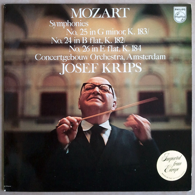 PHILIPS | KRIPS/MOZART - Symphonies Nos. 24, 25, 26 / NM