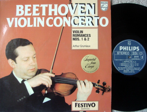 Philips / GRUMIAUX-GALLIERA, - Beethoven Violin Concerto & Romances, NM!