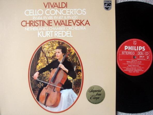 Philips / WALEVSKA-REDEL, - Vivaldi Cello Concertos, NM!