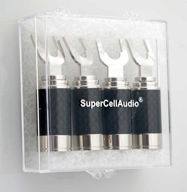 SuperCellAudio ® Rhodium Speaker Spades Set of 4