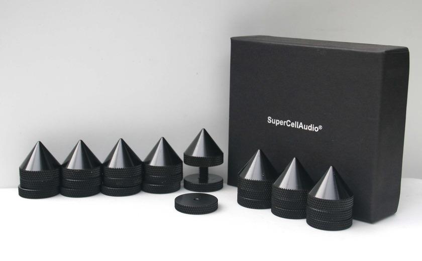 SuperCellAudio ® FSB-2-B-8 Sound Isolation Audio Cones set of 8