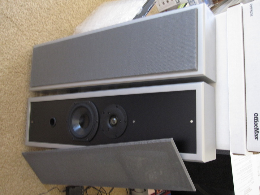 LEON Wall-Mount Speakers, a Complete 3 Speaker On-Wall Package,  Absolutely Brand New-Perfect 10/10, Never Used