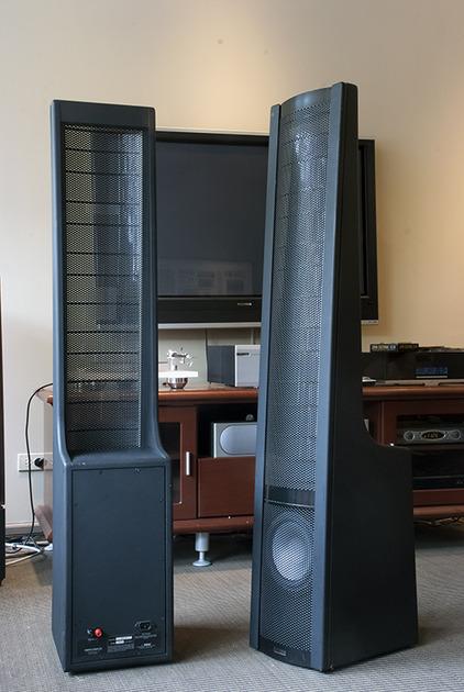 Martin Logan Aerius Hybrid Electrostatic Speaker With Upgraded Woofers..