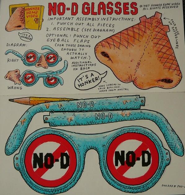 Frank Zappa - No D glasses + bonus Hot Rats steamboat Lbl