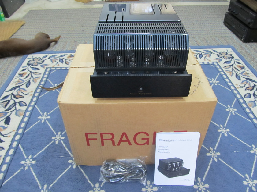 PRIMALUNA PROLOGUE 4 STEREO  POWER AMPLIFIER, PRISTINE, LIKE NEW BOX, MANUAL, EX SOUND, VERSATILE