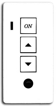 Audioaccess KP-3 Three Button In-Wall Keypad (White)