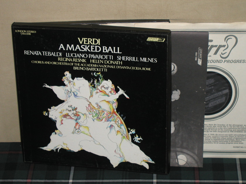 "Bartoletti/ANDSCR - Verdi ""A Masked Ball"" 3LP Box London OSA 1398 UK Import"