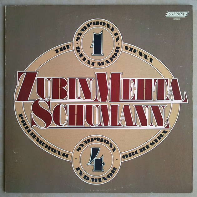 LONDON   MEHTA/SCHUMANN - Symphonies Nos. 1 & 4 / EX