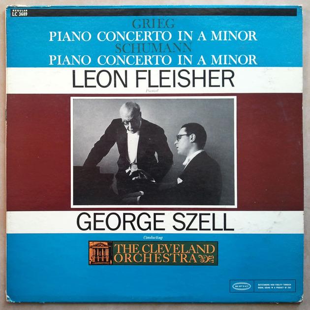 EPIC | LEON FLEISHER /SZELL/GRIEG - & SCHUMANN Piano Concetos / NM