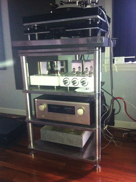 Symposium Acoustics  Isis Rack with Turntable Top and extras