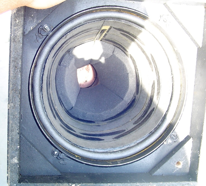 Ohm Walsh F Speakers  Working Drivers w Issues Nice Cabinets