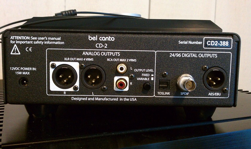 BEL CANTO Cd2 AND VBS 1 PLAYER AND BATTERY PACK
