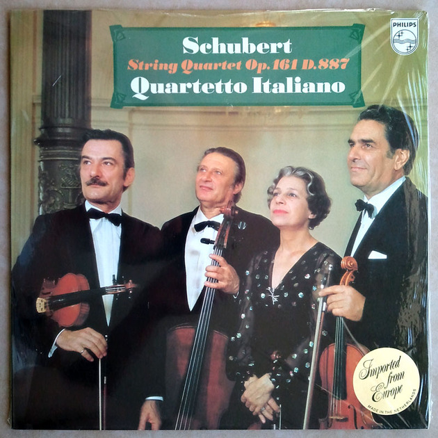 PHILIPS | QUARTETTO ITALINO/SCHUBERT - String Quartets Op. 116 D. 887 / NM