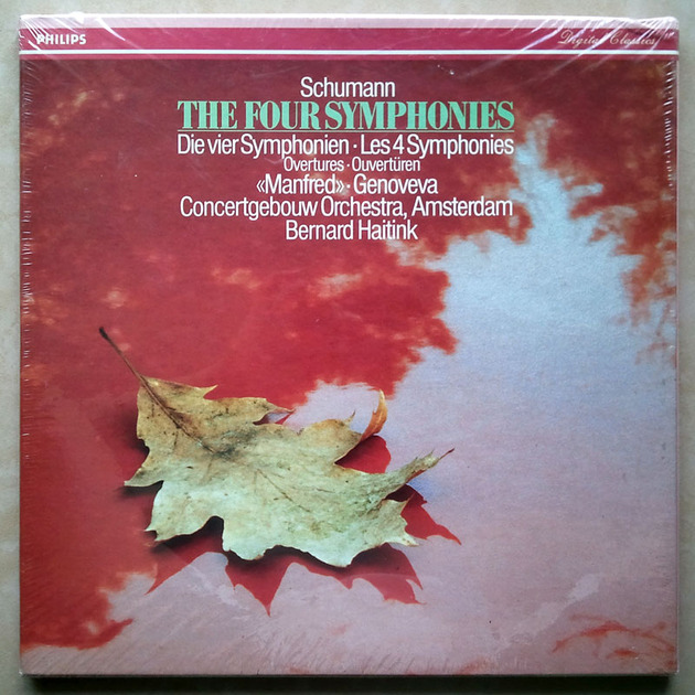 Sealed PHILIPS Digital | HAITINK/SCHUMANN - The 4 Symphonies, Overtures, Manfred / 3-LP Box Set