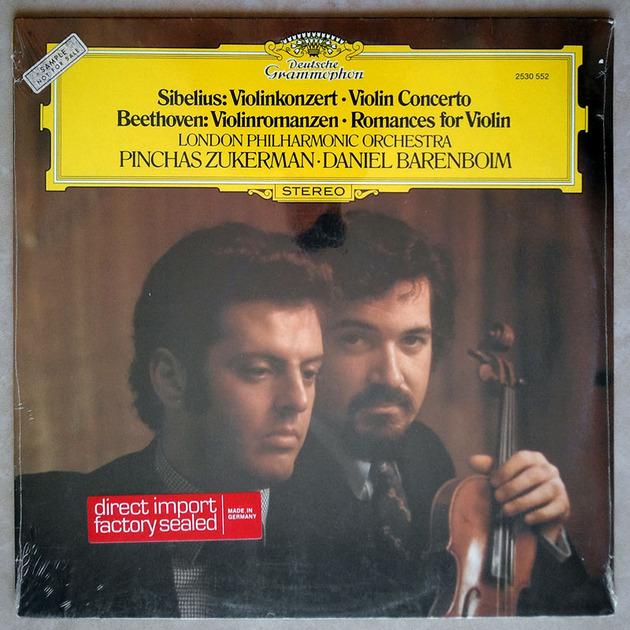 Sealed DG | ZUKERMAN/SIBELIUS - Violin Concerto/BEETHOVEN Romances for Violin / PROMO COPY