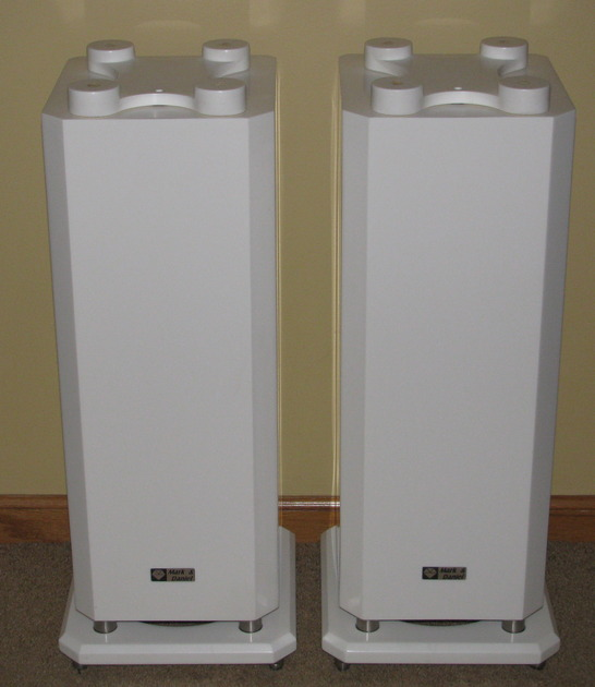 Mark & Daniel Muse Sub, pair of all white subwoofers