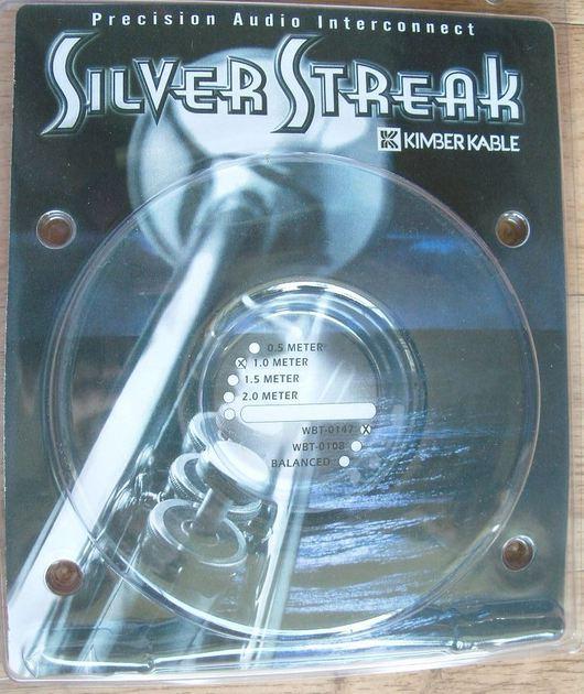 Kimber kable silver streak wbt-0147 rca 1m. pair