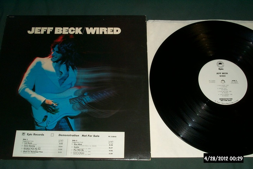 Jeff beck - White Label Promo wired lp nm