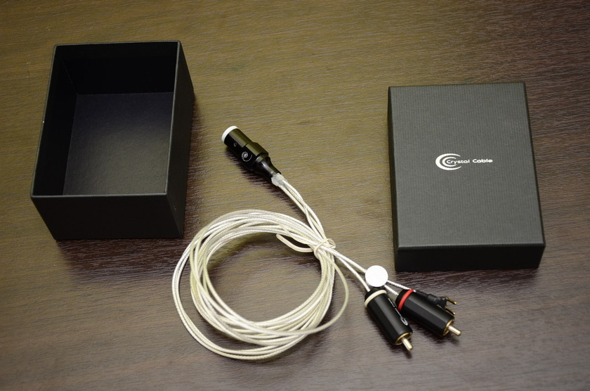 Crystal Cable Micro phono 1 meter (silver/gold) din to RCA