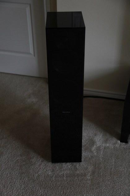 Bowers and Wilkins CM7 floorstanding speakers in gloss black B&W