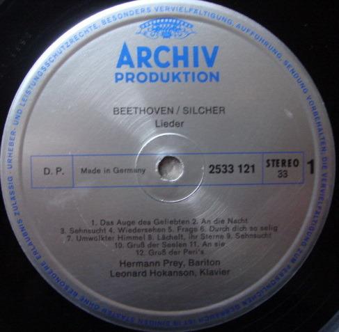 Archiv / HERMANN PREY, - Beethoven Melodies from Sonatas & Symphonies, NM!