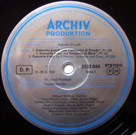 ★1st Press★ Archiv / STADLMAIR, - Vivaldi Concertos for Wind Instruments, NM!