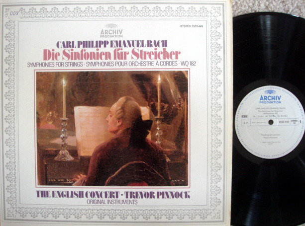 Archiv / PINNOCK, - CPE Bach Symphonies fro Strings, NM!