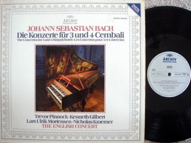 Archiv Digital / PINNOCK, - Bach Concertos for 3 & 4 Harpsichords, NM!