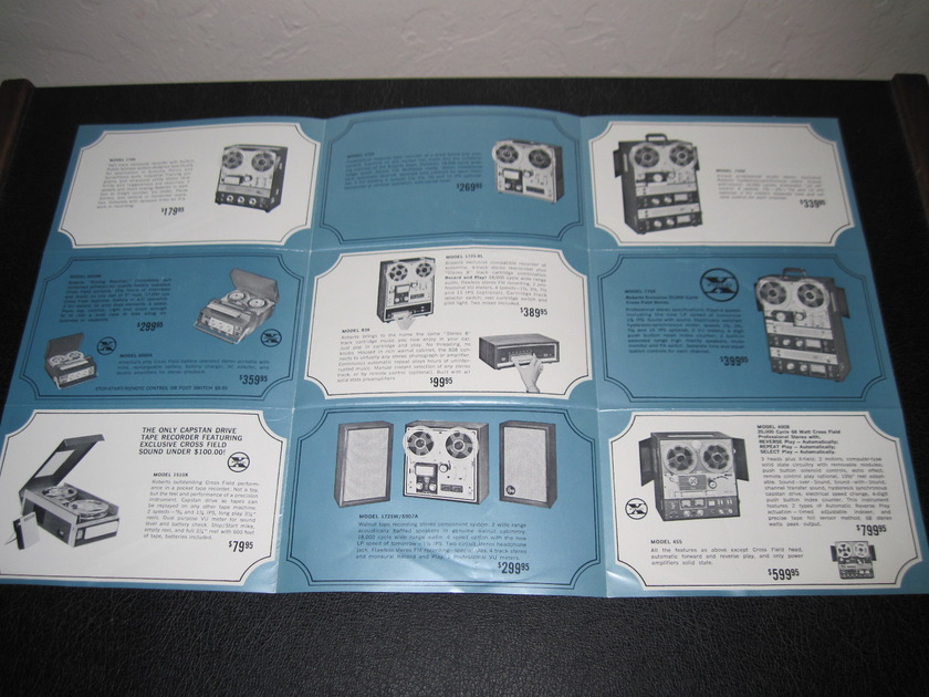 ROBERTS TAPE RECORDERS - Ad Slick - WITH FAST SHIP!