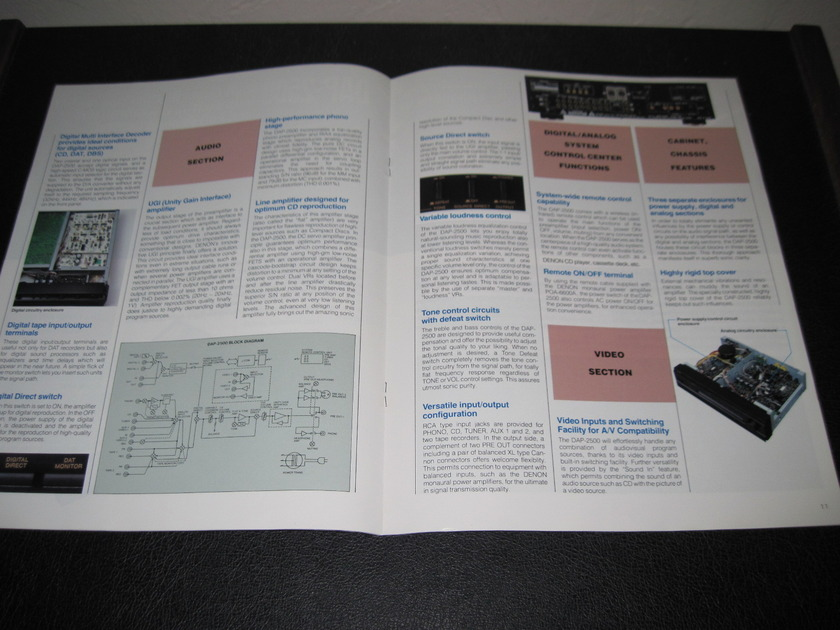 DENON DAP-5500/2500 DIGITAL PRE-AMPLIFIER - -ORIGINAL PRODUCT BROCHURE-  FAST SHIPPING