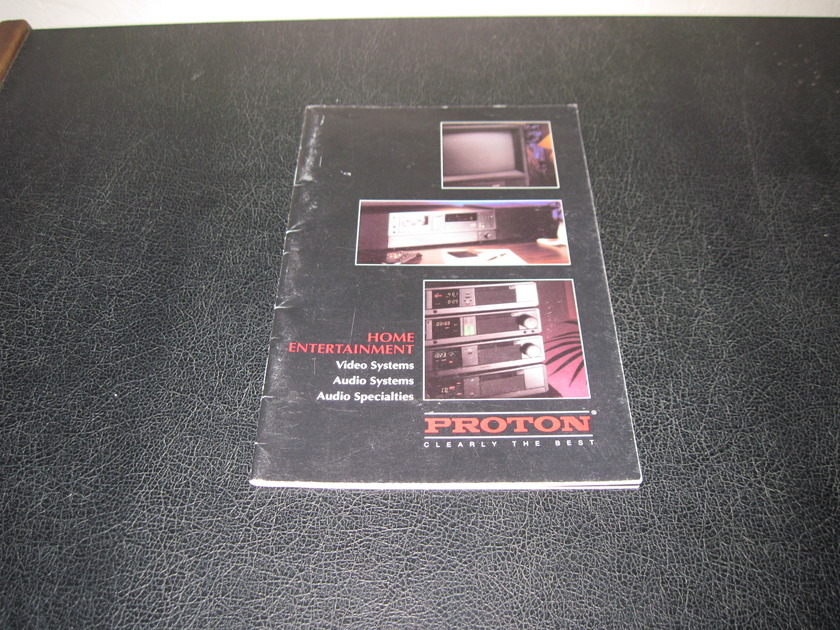 PROTON AUTOSOUND SYSTEMS AND COMPONENTS BROCHURE - -FACTORY ORIGINAL-  FAST SHIPPING