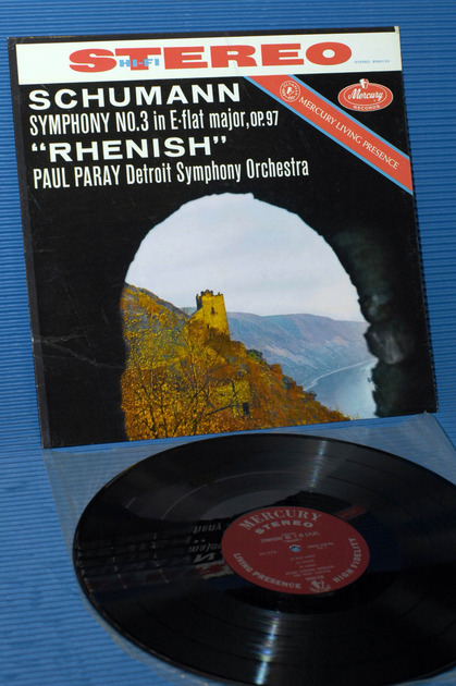 "SCHUMANN/Paray - - ""Symphony No.3 (Rhenish)"" - Mercury Living Presence 1960 early pressing"