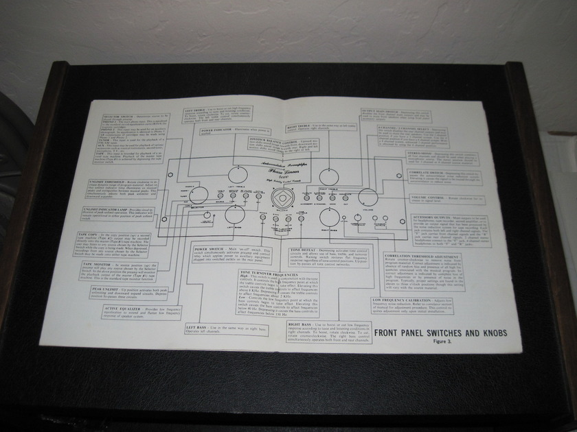 PHASE LINEAR MODEL 4000 PREAMPLIFIER  - -FACTORY ORIGINAL OWNER'S MANUAL-