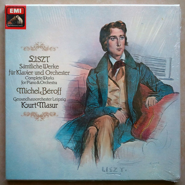 Sealed EMI HMV   BEROFF/MASUR/LISZT - Complete Works for Piano & Orchestra / 3-LP Box Set