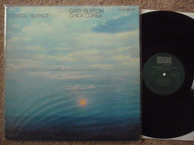 CRYSTAL SILENCE  - GARY BURTON CHICK COREA ECM LP EXCELLENT LOW