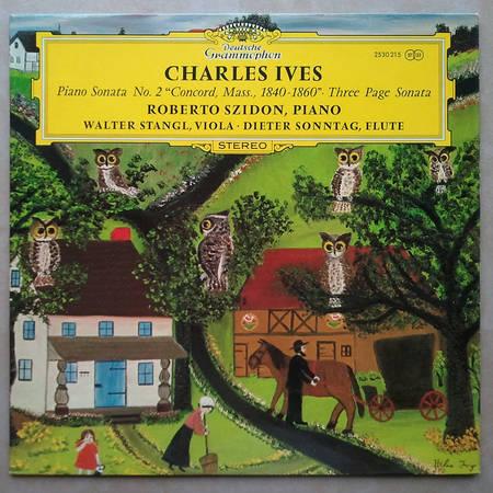 DG | CHARLES IVES - Piano Sonata No. 2, Three Page Sonata / NM
