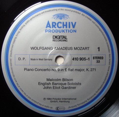 Archiv Digital / GARDINER-BILSON, - Mozart Piano Concerto No.9 & 11, NM!