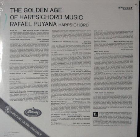 ★Sealed★ Mercury / PUYANA, - The Golden Age of Harpsichord Music, Original!