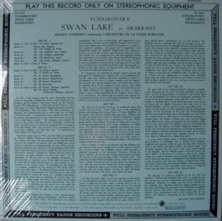 ★Sealed★ UK DECCA-LONDON FFSS / ANSERMET - Tchaikovsky Swan Lake, Original WB, BB!