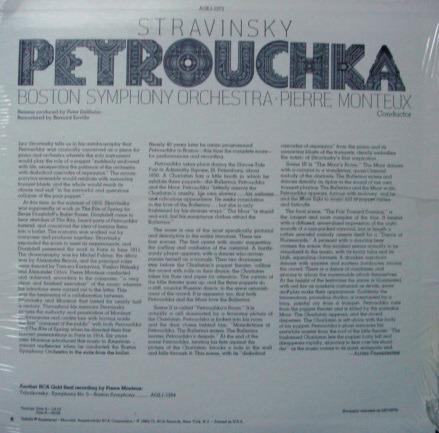 ★Sealed★ RCA Gold Seal / MONTEUX, - Stravinsky Petrouchka!