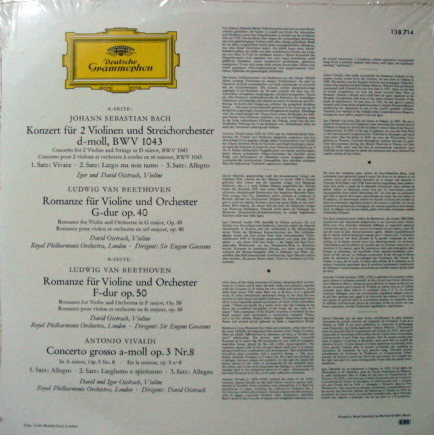 ★Sealed★ DG / DAVID &  - IGOR OISTRAKH, Bach-Beethoven-Vivaldi!